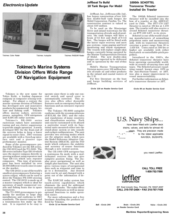 Maritime Reporter Magazine, page 40,  May 1992