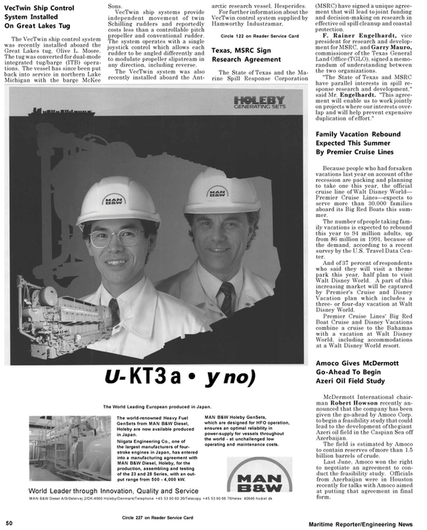 Maritime Reporter Magazine, page 52,  May 1992 Garry Mauro