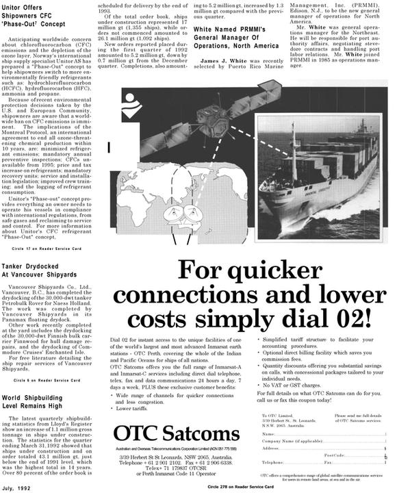 Maritime Reporter Magazine, page 21,  Jul 1992 New Jersey