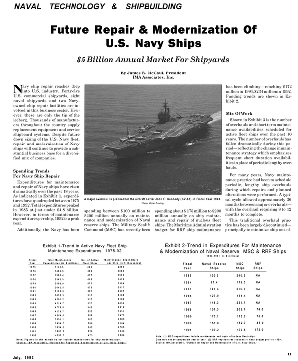 Maritime Reporter Magazine, page 37,  Jul 1992