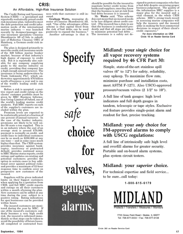 Maritime Reporter Magazine, page 15,  Sep 1994 bank