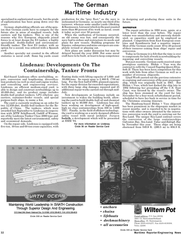Maritime Reporter Magazine, page 30,  Sep 1994 California