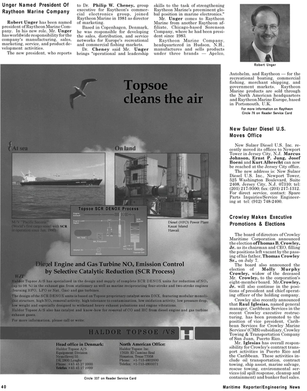 Maritime Reporter Magazine, page 38,  Sep 1994 Colorado
