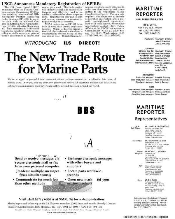 Maritime Reporter Magazine, page 6,  Sep 1994