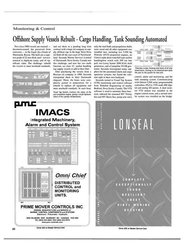 Maritime Reporter Magazine, page 20,  Jan 2000