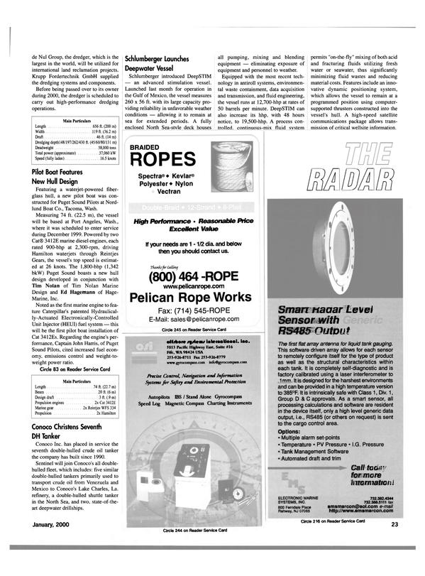 Maritime Reporter Magazine, page 23,  Jan 2000