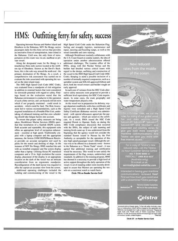 Maritime Reporter Magazine, page 29,  Jan 2000 Invicta