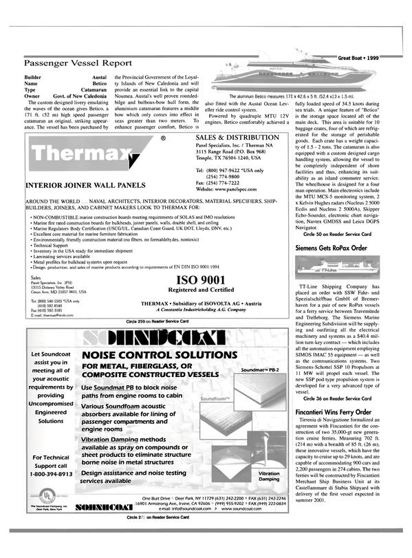 Maritime Reporter Magazine, page 30,  Jan 2000