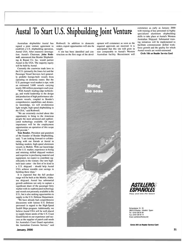 Maritime Reporter Magazine, page 31,  Jan 2000