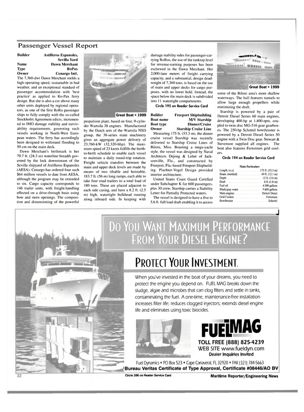 Maritime Reporter Magazine, page 32,  Jan 2000 oil