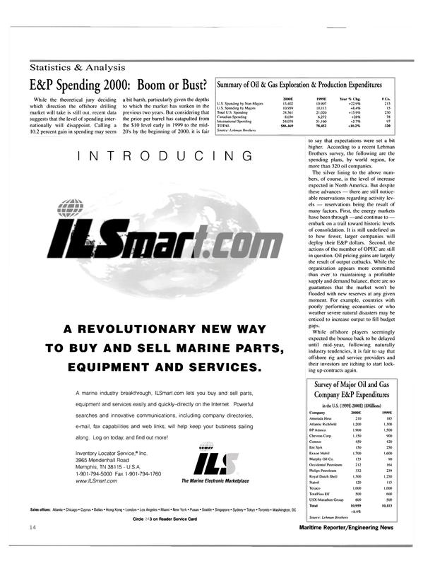 Maritime Reporter Magazine, page 14,  Feb 2000