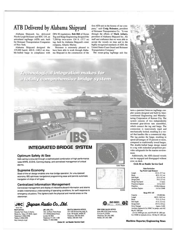 Maritime Reporter Magazine, page 16,  Feb 2000