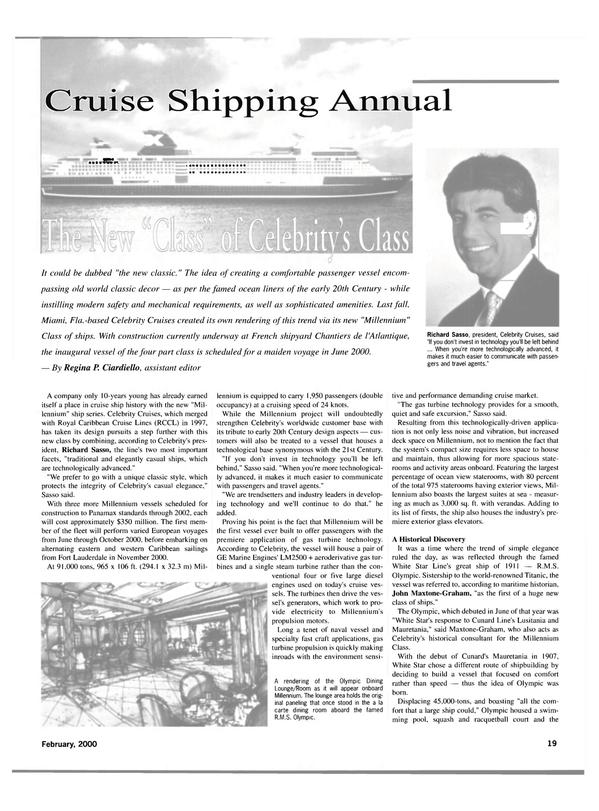 Maritime Reporter Magazine, page 19,  Feb 2000 Florida