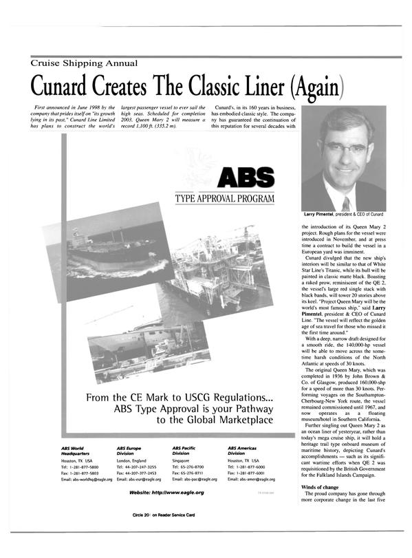 Maritime Reporter Magazine, page 24,  Feb 2000