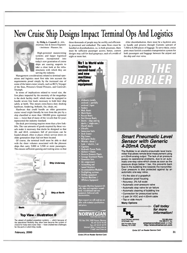 Maritime Reporter Magazine, page 31,  Feb 2000 maritime/ offshore equipment