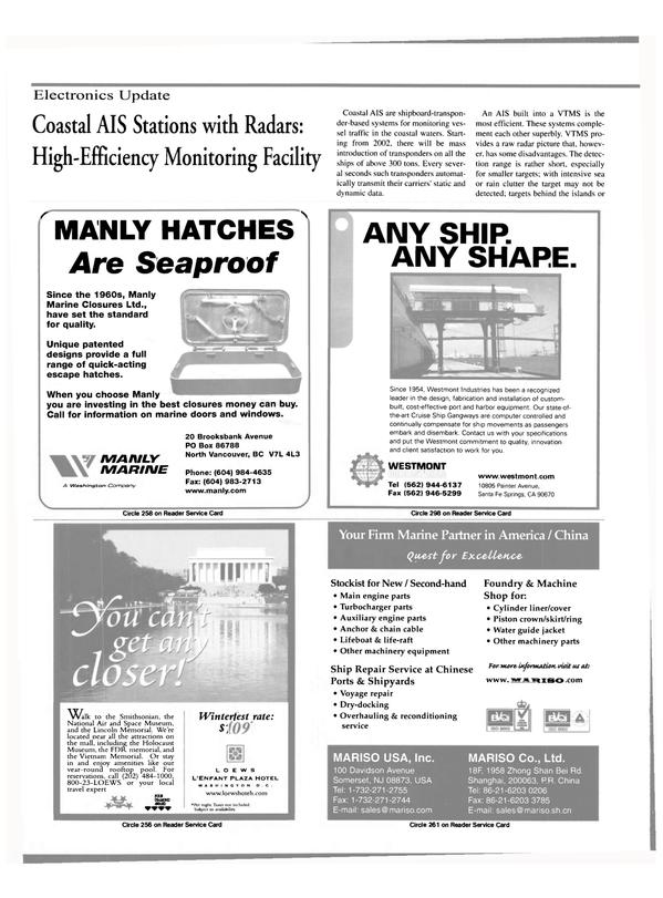 Maritime Reporter Magazine, page 44,  Feb 2000