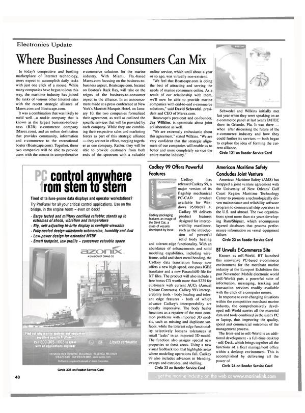 Maritime Reporter Magazine, page 48,  Feb 2000
