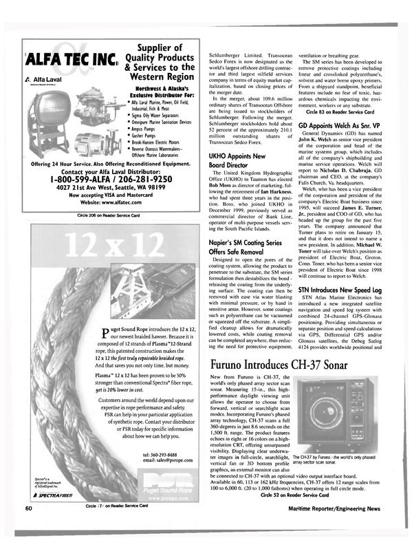 Maritime Reporter Magazine, page 60,  Feb 2000