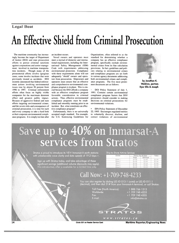 Maritime Reporter Magazine, page 14,  Mar 2000