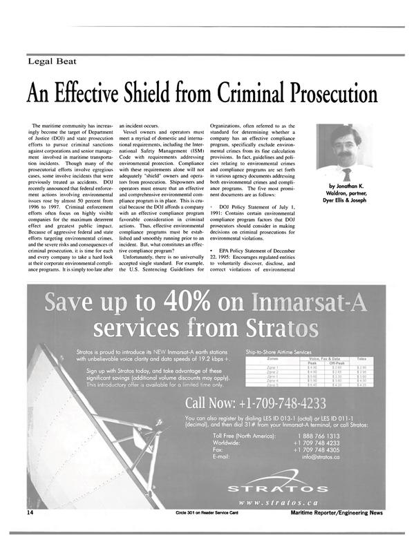 Maritime Reporter Magazine, page 14,  Mar 2000 Dyer Ellis
