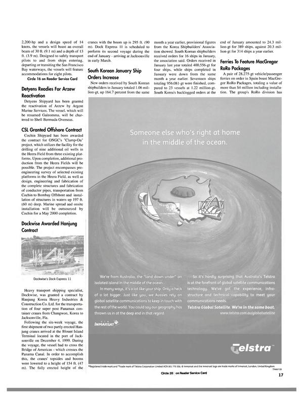 Maritime Reporter Magazine, page 17,  Mar 2000