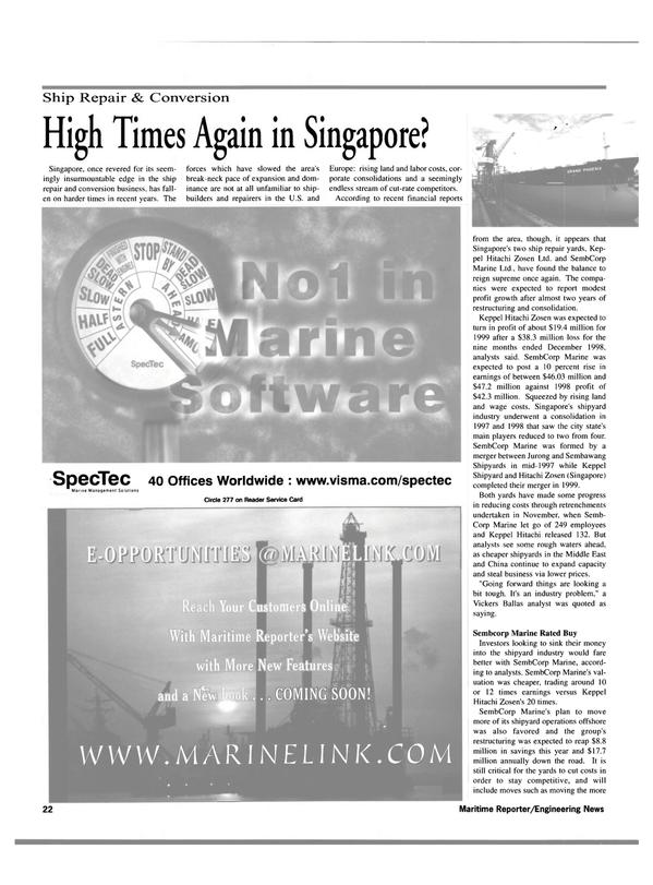 Maritime Reporter Magazine, page 22,  Mar 2000
