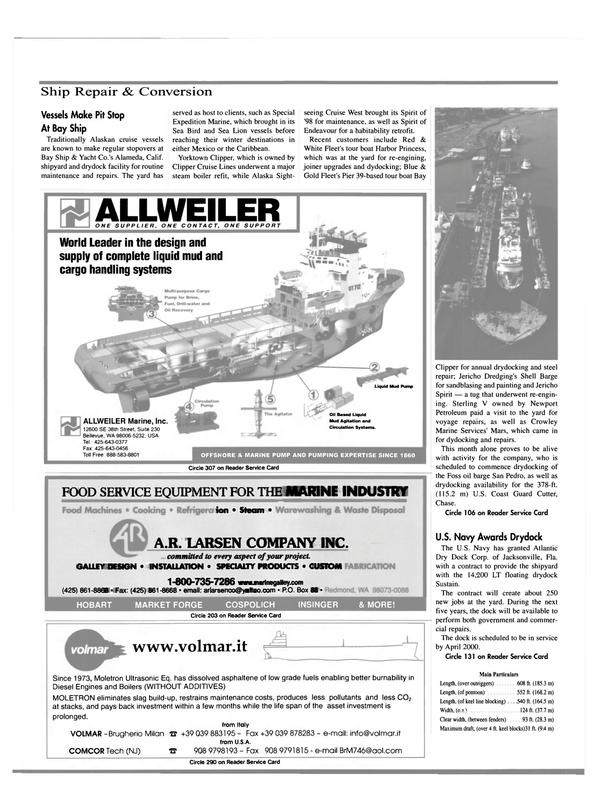 Maritime Reporter Magazine, page 30,  Mar 2000