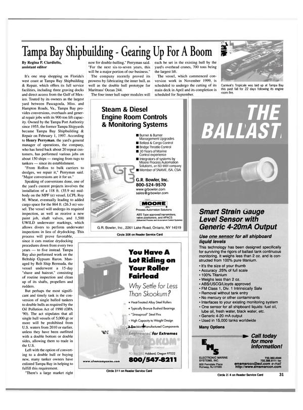 Maritime Reporter Magazine, page 31,  Mar 2000