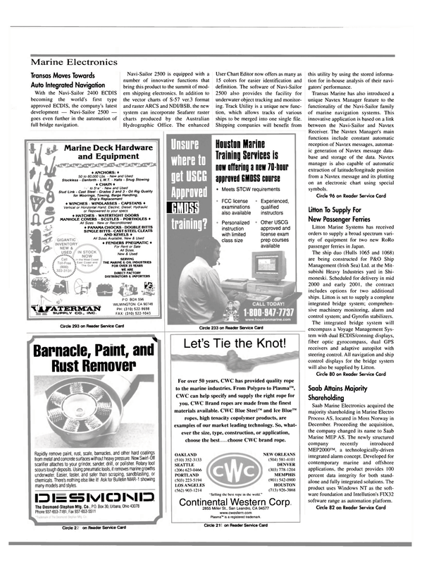 Maritime Reporter Magazine, page 44,  Mar 2000