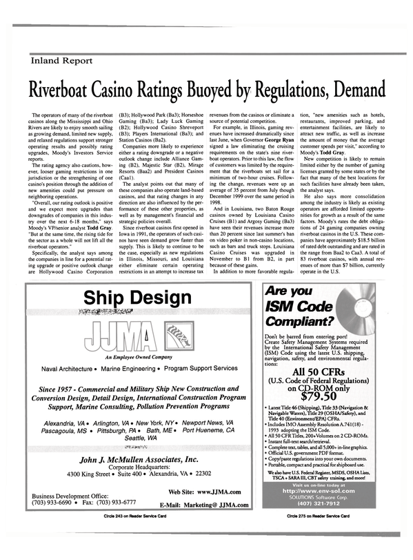 Maritime Reporter Magazine, page 48,  Mar 2000