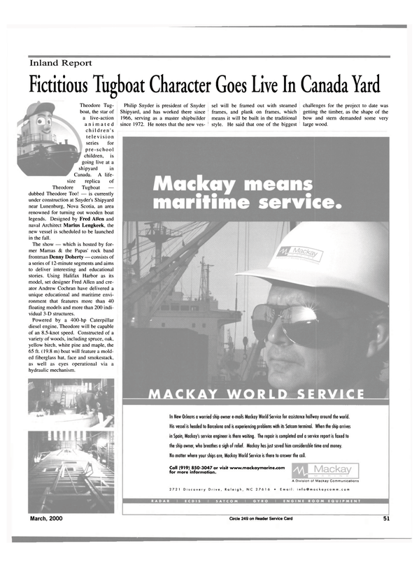 Maritime Reporter Magazine, page 51,  Mar 2000