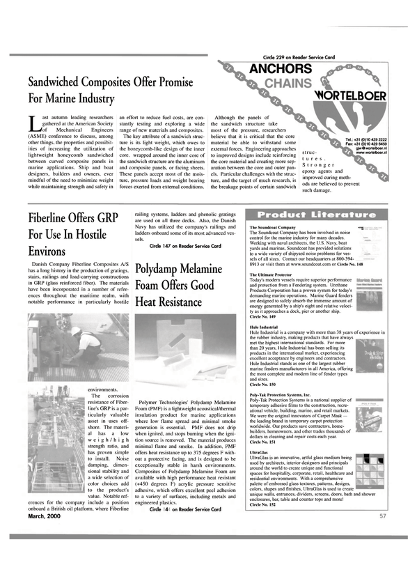 Maritime Reporter Magazine, page 57,  Mar 2000