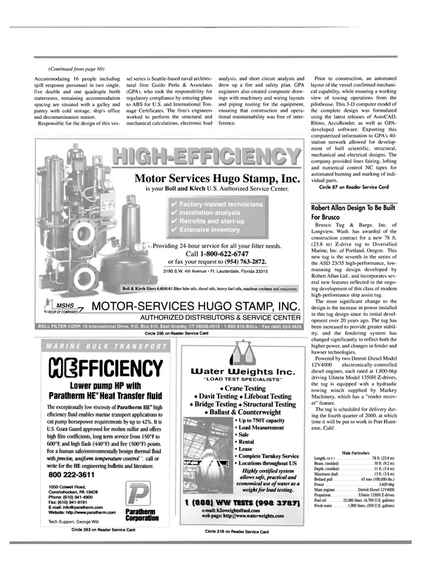 Maritime Reporter Magazine, page 62,  Mar 2000