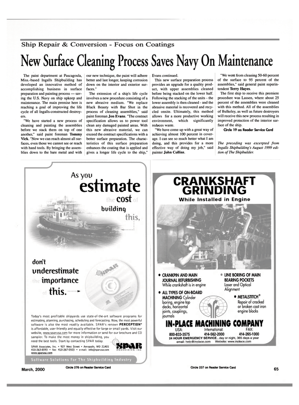 Maritime Reporter Magazine, page 65,  Mar 2000