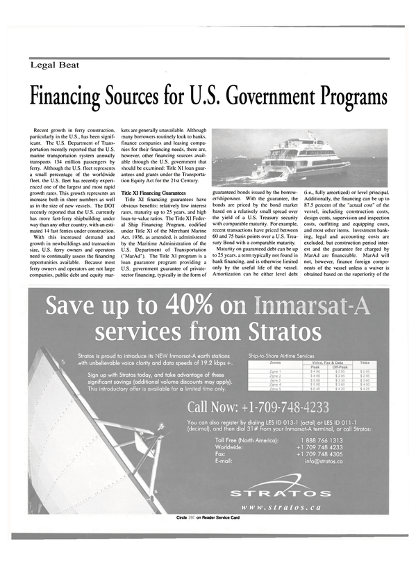 Maritime Reporter Magazine, page 14,  Apr 2000 Maritime Administration