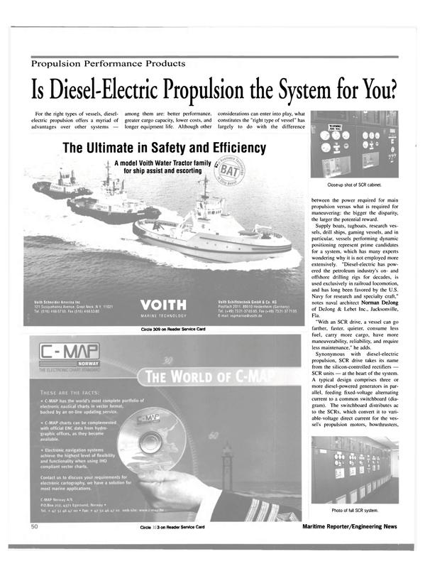 Maritime Reporter Magazine, page 54,  Apr 2000 United States