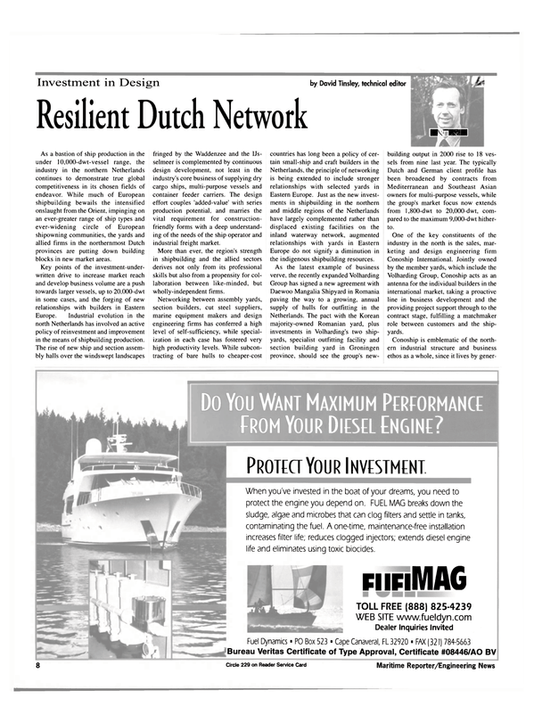Maritime Reporter Magazine, page 8,  May 2000 northern Netherlands