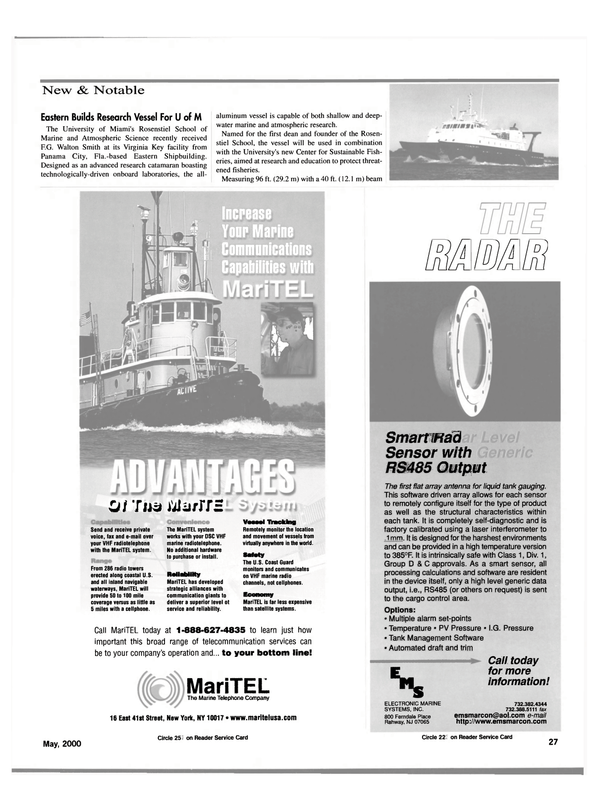 Maritime Reporter Magazine, page 27,  May 2000 New York