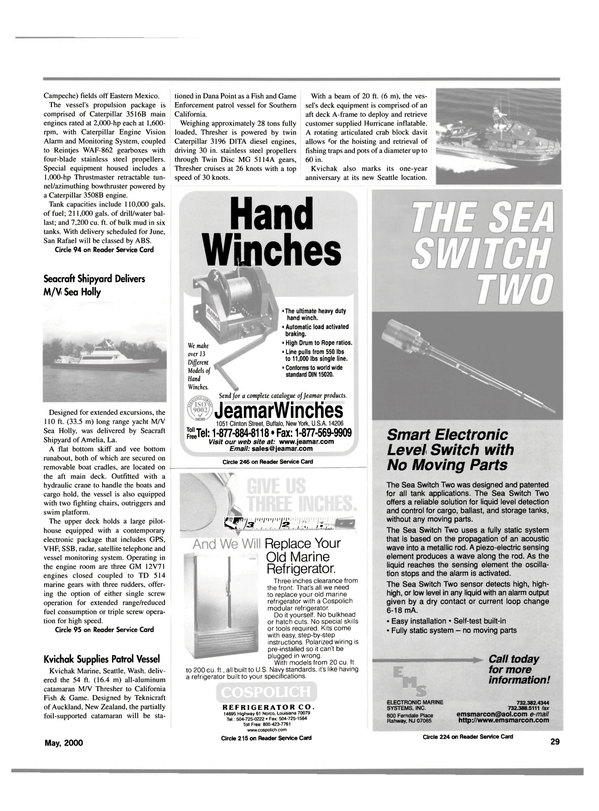 Maritime Reporter Magazine, page 29,  May 2000 Southern California