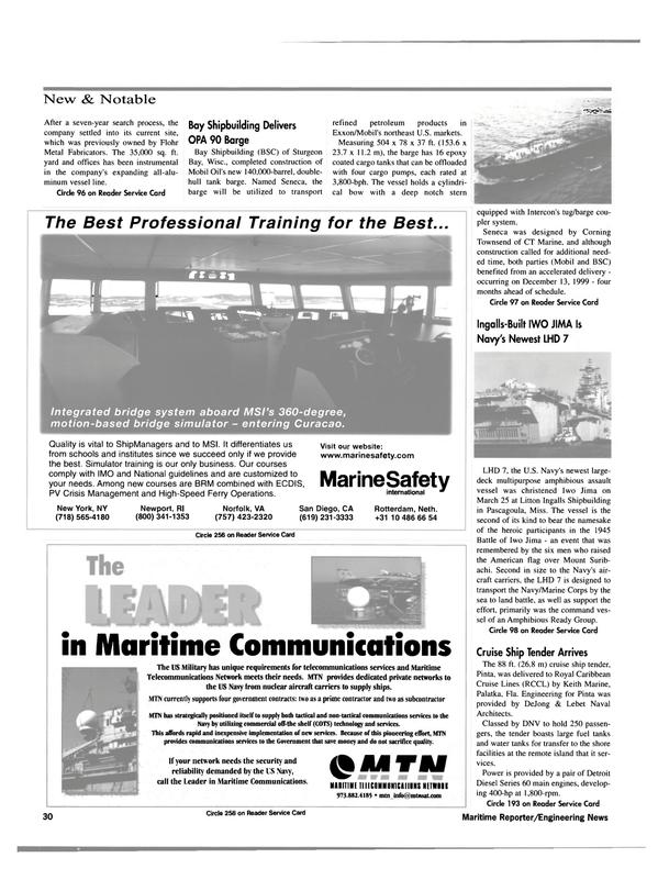 Maritime Reporter Magazine, page 32,  May 2000 Keith Marine