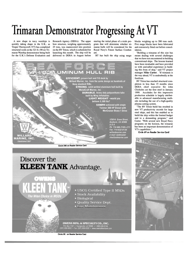 Maritime Reporter Magazine, page 34,  May 2000