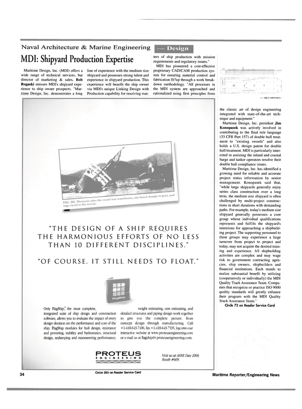 Maritime Reporter Magazine, page 36,  May 2000