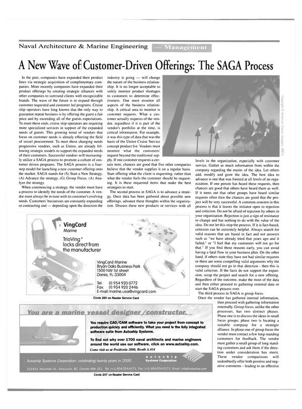 Maritime Reporter Magazine, page 40,  May 2000