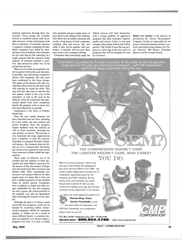 Maritime Reporter Magazine, page 41,  May 2000 Columbia