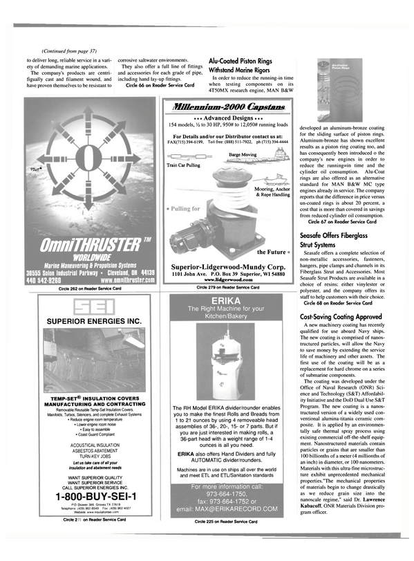 Maritime Reporter Magazine, page 42,  May 2000
