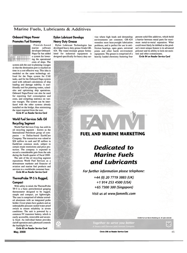Maritime Reporter Magazine, page 47,  May 2000