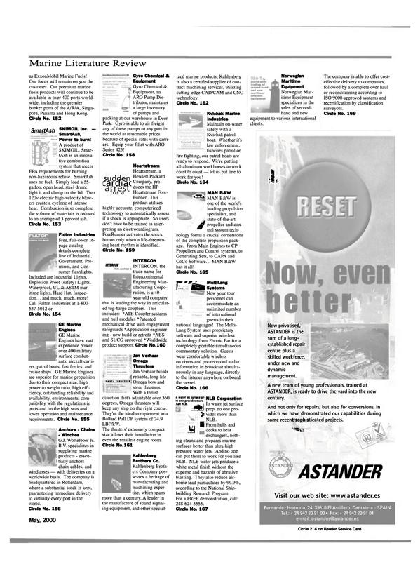 Maritime Reporter Magazine, page 55,  May 2000 Fernandez Hontoria
