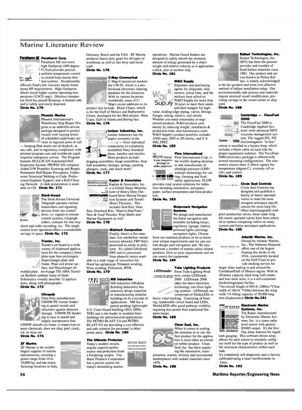 Maritime Reporter Magazine, page 56,  May 2000 Gulf coast