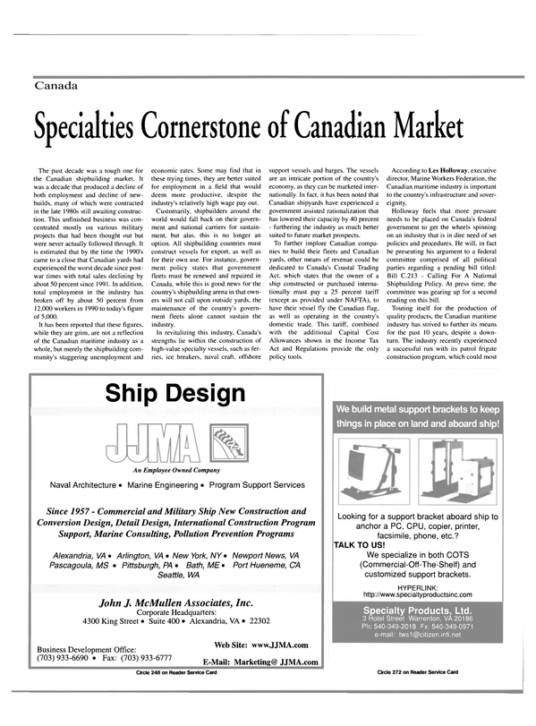 Maritime Reporter Magazine, page 58,  May 2000 Business Development Office
