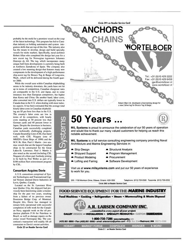 Maritime Reporter Magazine, page 59,  May 2000